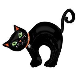 halloween black cat jumbo foil balloon - Halloween Black Cat Coloring Page