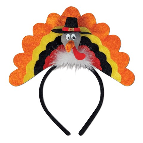 Thanksgiving Turkey Headband Adult
