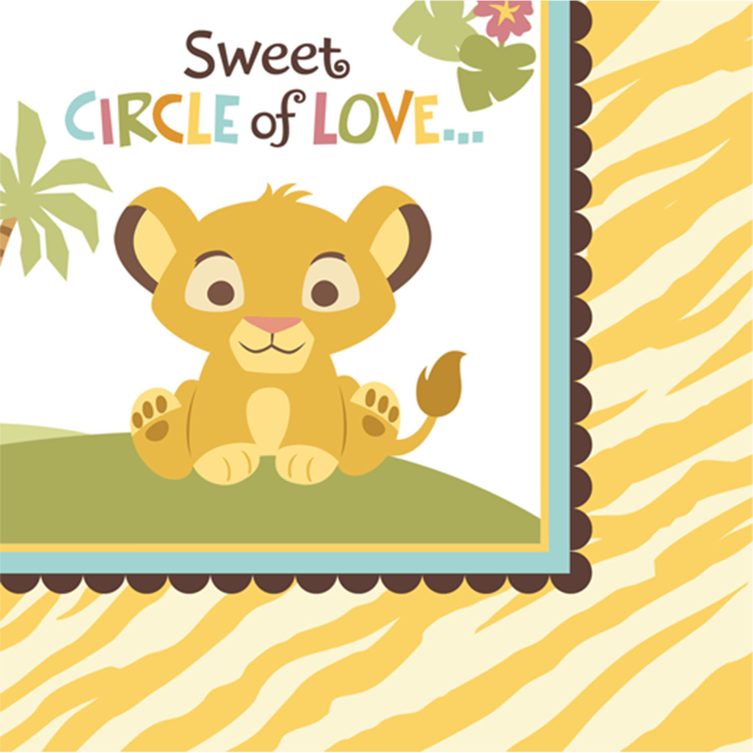 details about disney lion king baby shower beverage napkins 16