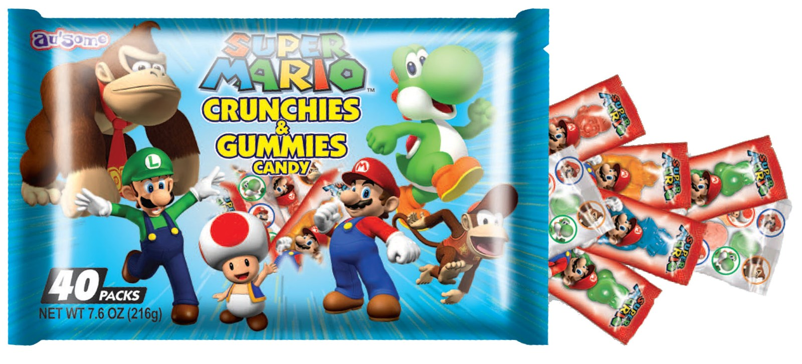 Super Mario Crunchies and Gummies Candy