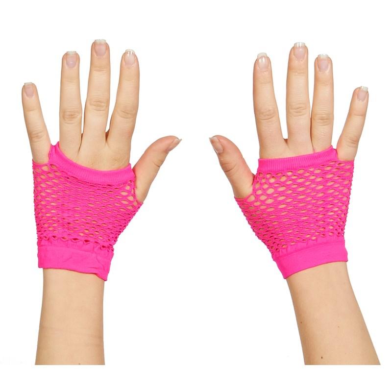 Neon Fishnet Fingerless Wrist Glove for the 2015 Costume season.