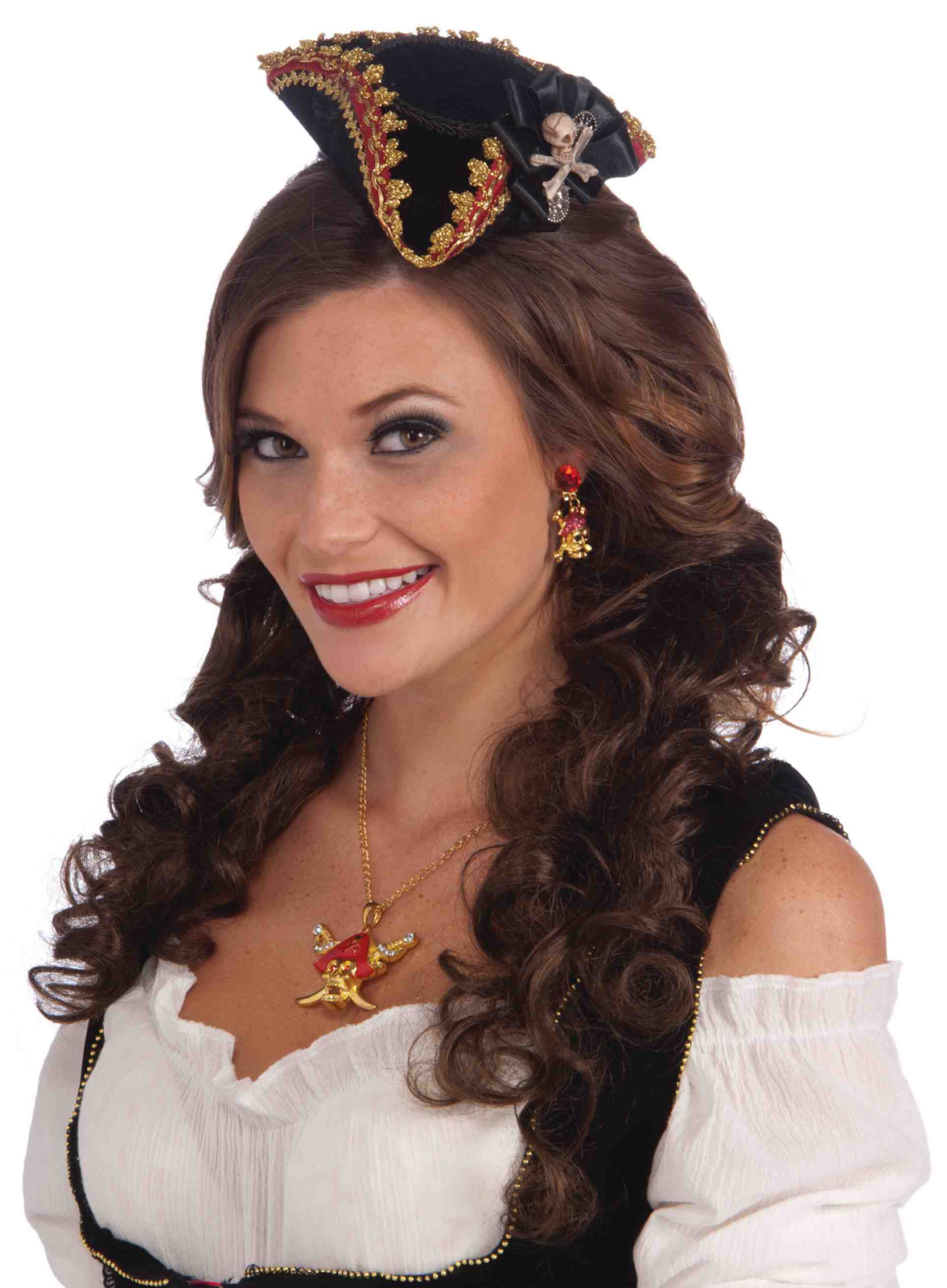 8e3eb518e1e Lady Buccaneer Mini Hat with skull - Adult