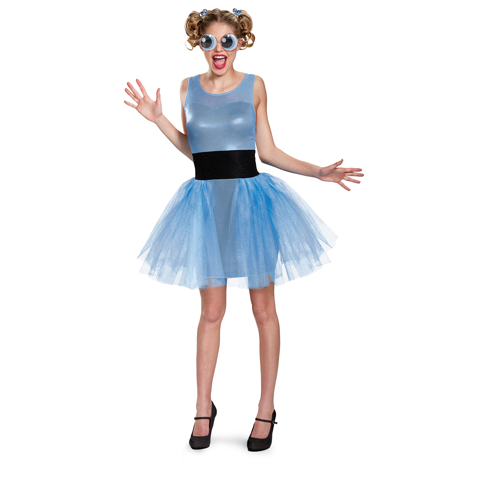 Rhinestones Good Taste Blue Velvet Adult Medium Fine Baton Twirling Costume