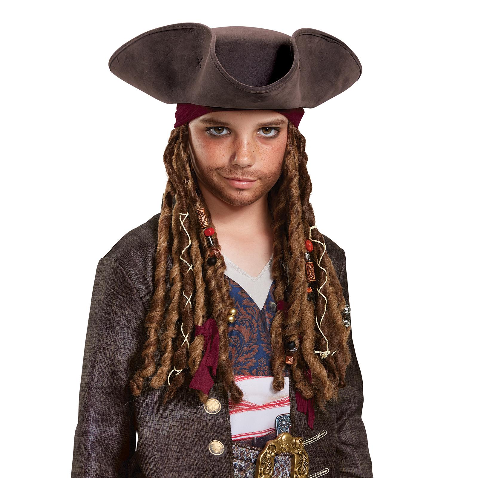 d07d2133a Pirates of the Caribbean 5: Captain Jack Hat Bandana & Dreads - Child