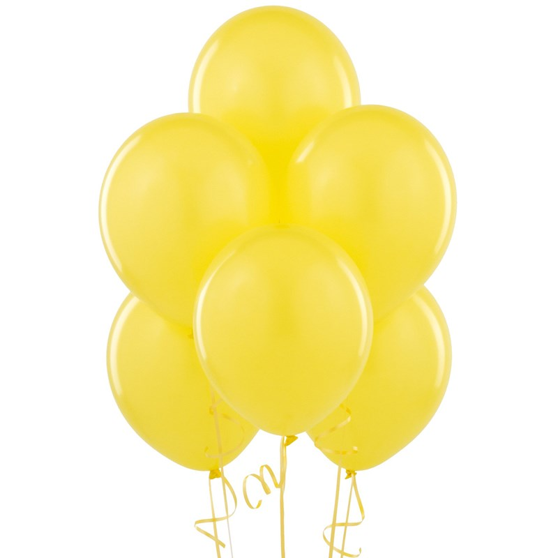 Yellow Matte Latex Balloons (6 count) for the 2015 Costume season.