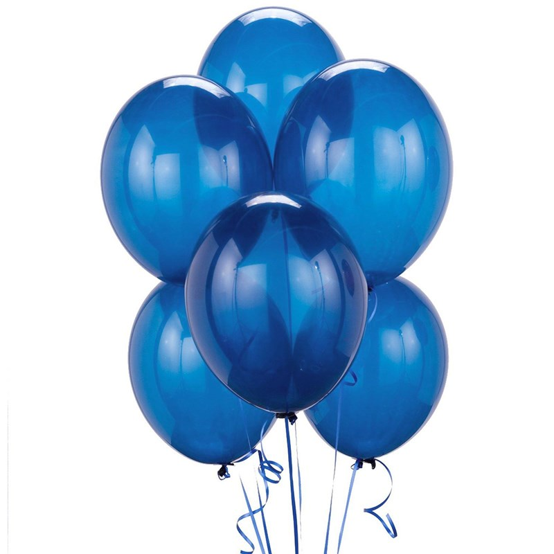 Crystal Blue Latex Balloons (6 count) for the 2015 Costume season.