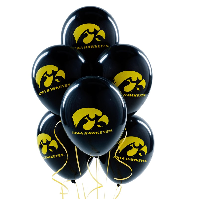 Iowa Hawkeyes   Latex Balloons (10 count) for the 2015 Costume season.
