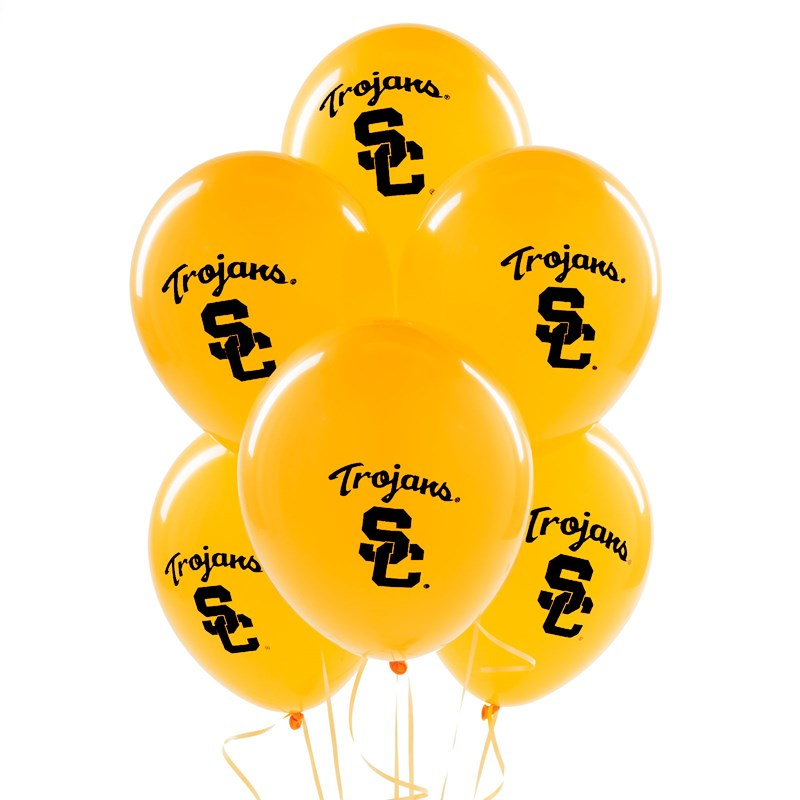 USC Trojans Latex Balloons (10 count) for the 2015 Costume season.