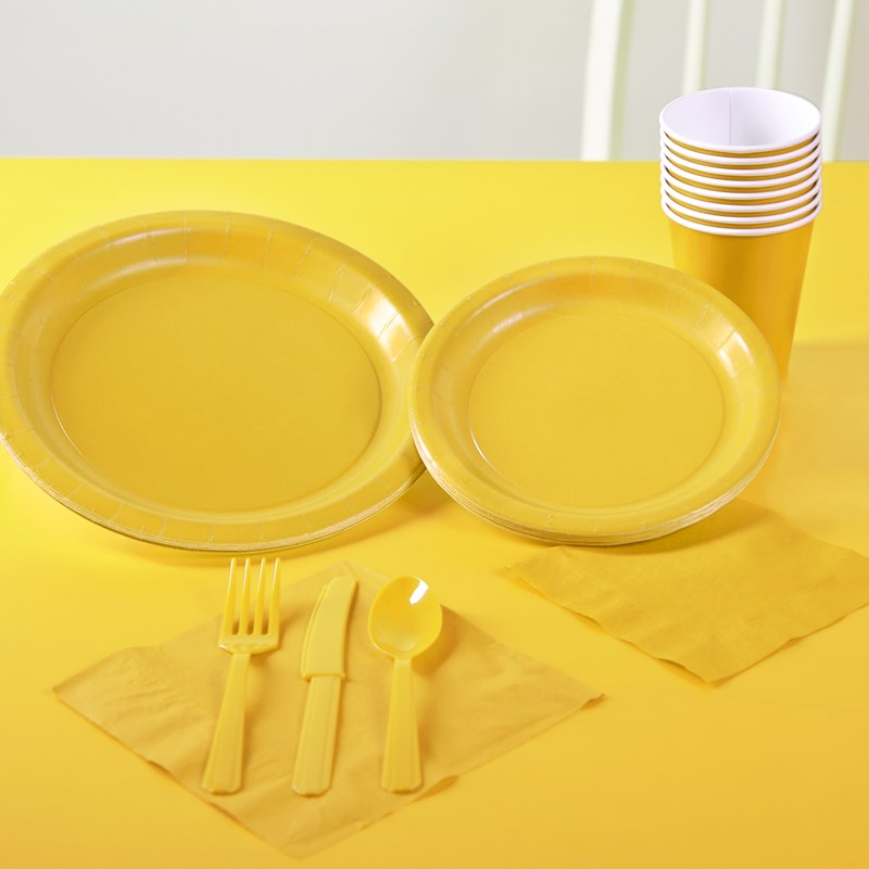 School Bus Yellow Solid Color Party Kit for the 2015 Costume season.