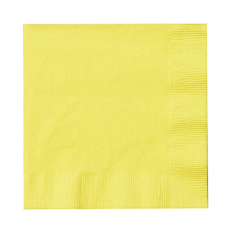 Mimosa (Light Yellow) Beverage Napkins (50 count) for the 2015 Costume season.