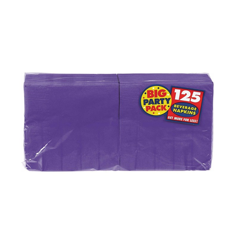 New Purple Big Party Pack   Beverage Napkins (125 count) for the 2015 Costume season.