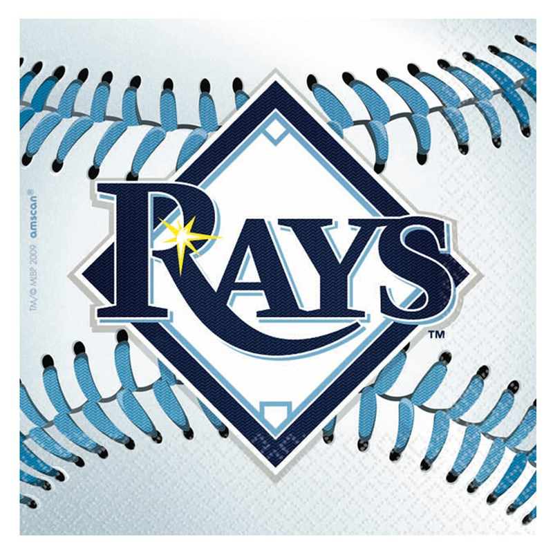 Tampa Bay Rays Baseball   Beverage Napkins (36 count) for the 2015 Costume season.