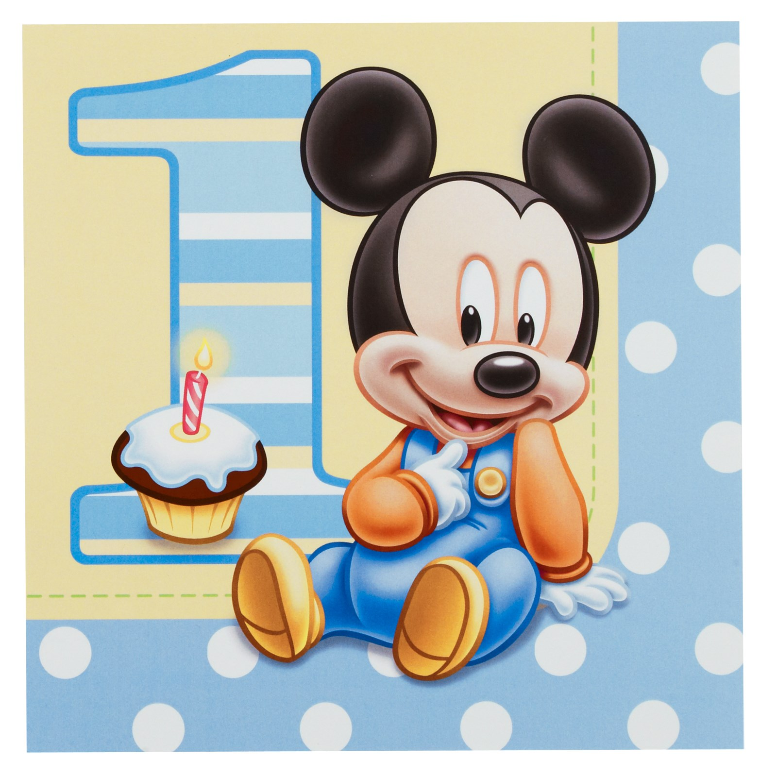 Disney Mickeys 1st Birthday Lunch Napkins 16 count