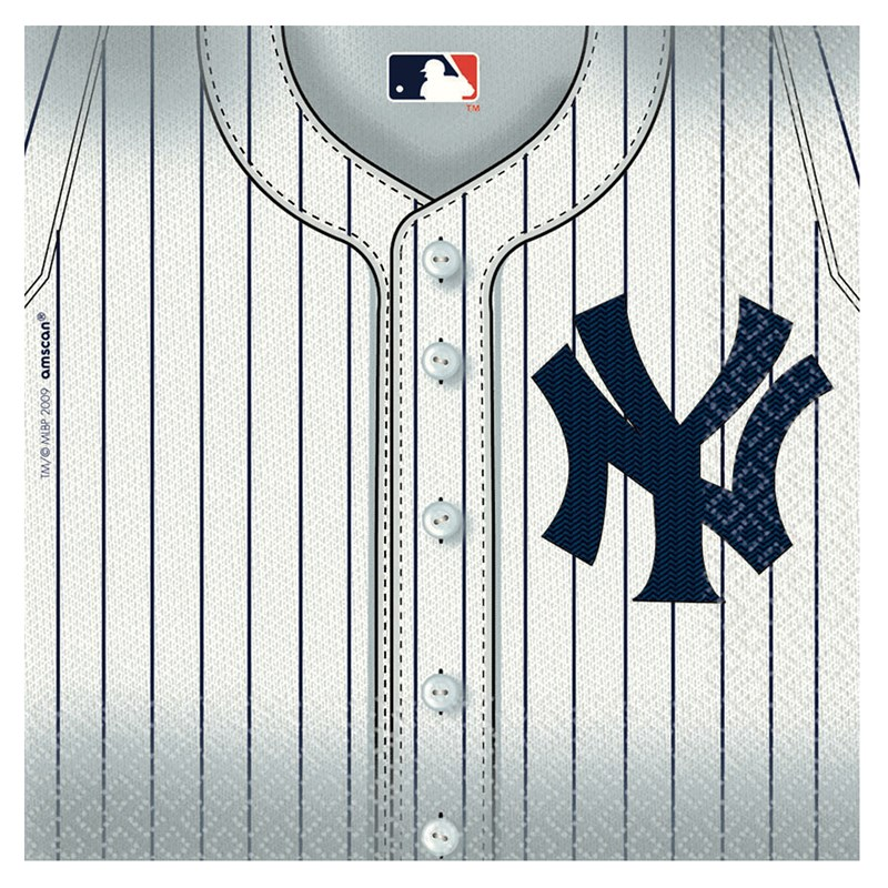 New York Yankees Baseball   Lunch Napkins (36 count) for the 2015 Costume season.