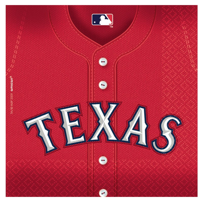 Texas Rangers Baseball   Lunch Napkins (36 count) for the 2015 Costume season.