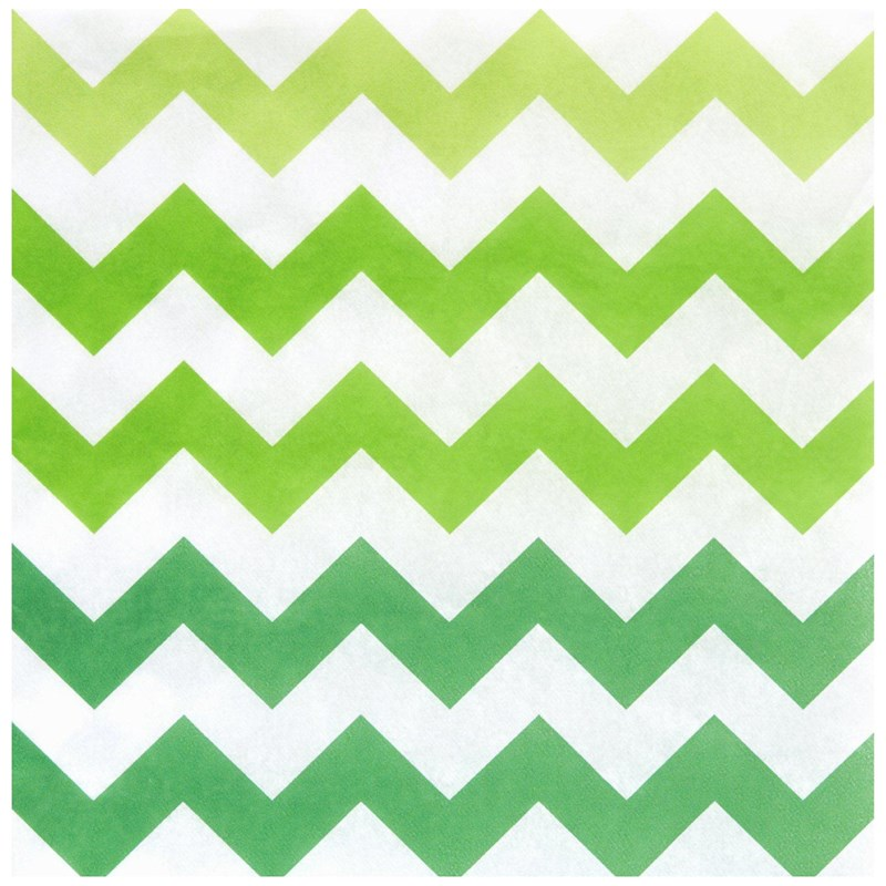 Chevron Green Lunch Napkins (20 count) for the 2015 Costume season.
