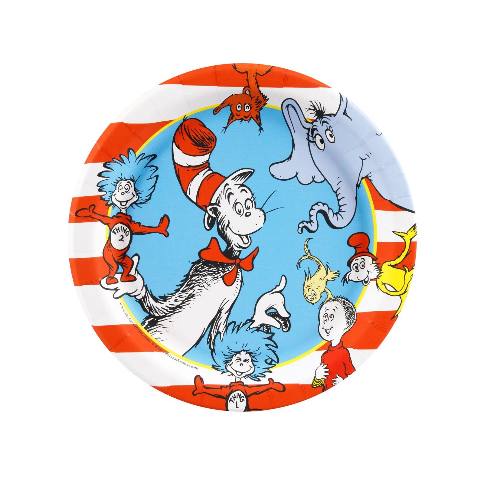 Dr. Seuss Dessert Plates 8 count