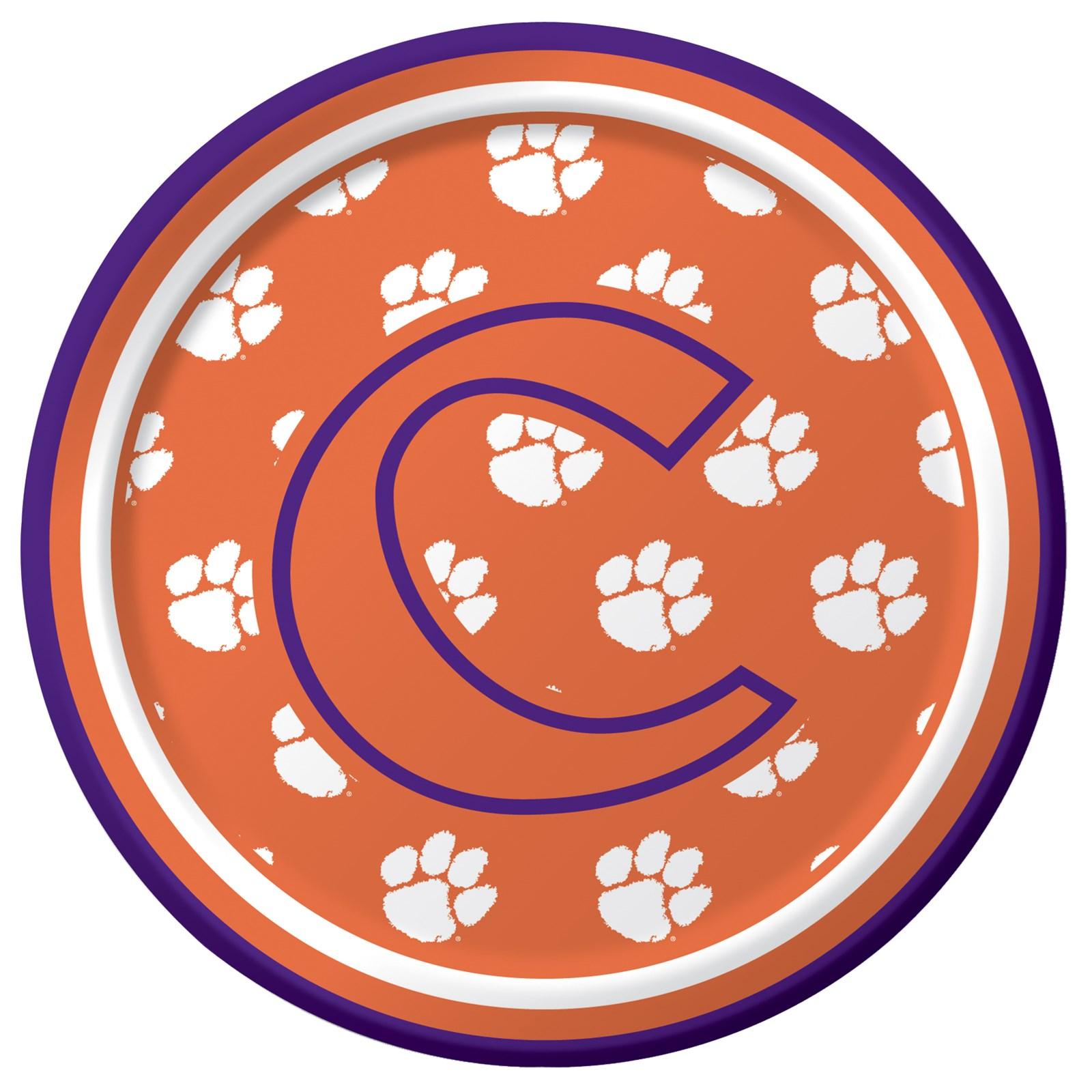 Image of Clemson Tigers - Dessert Plates (8 count)