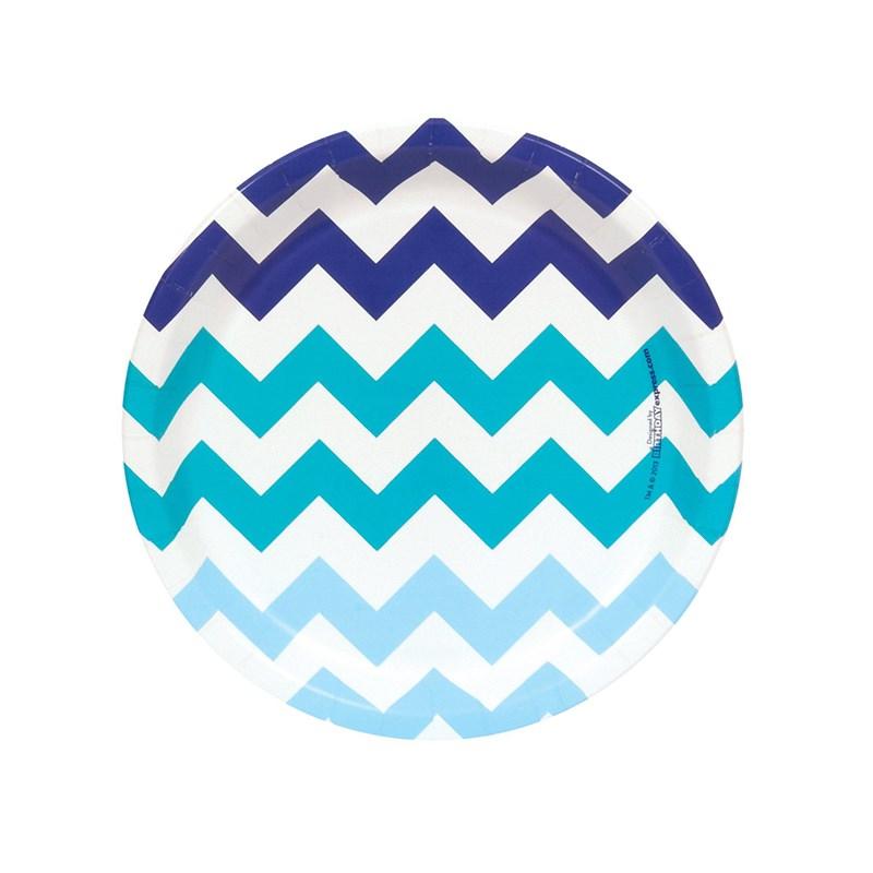 Chevron Blue Dessert Plates (8 count) for the 2015 Costume season.
