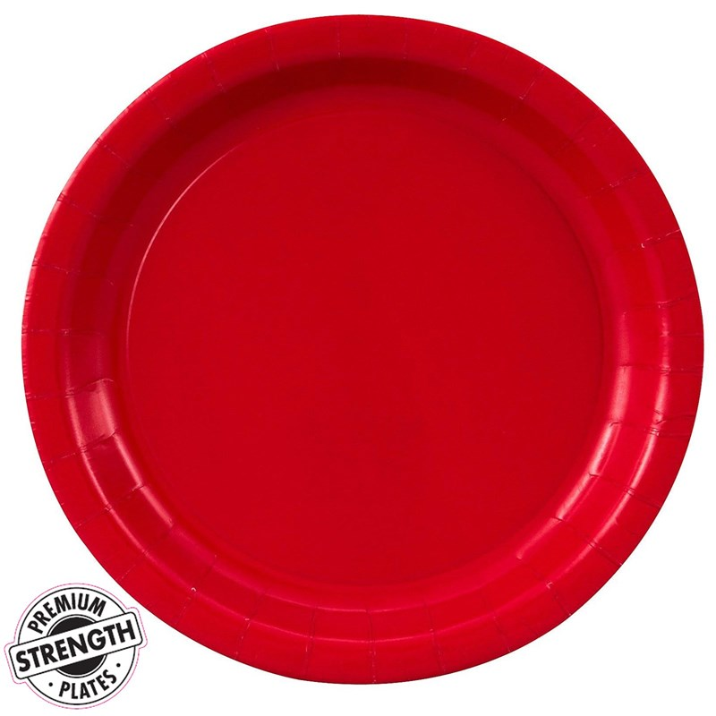 Classic Red (Red) Paper Dinner Plates (24 count) for the 2015 Costume season.