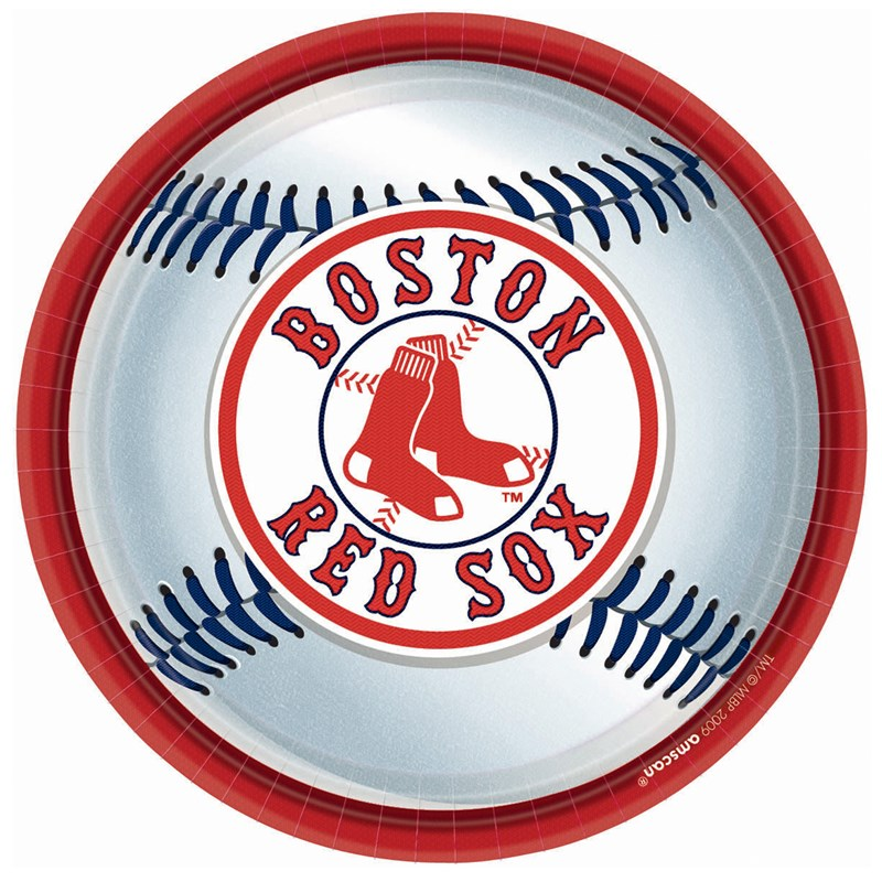 Boston Red Sox Baseball   Round Dinner Plates (18 count) for the 2015 Costume season.