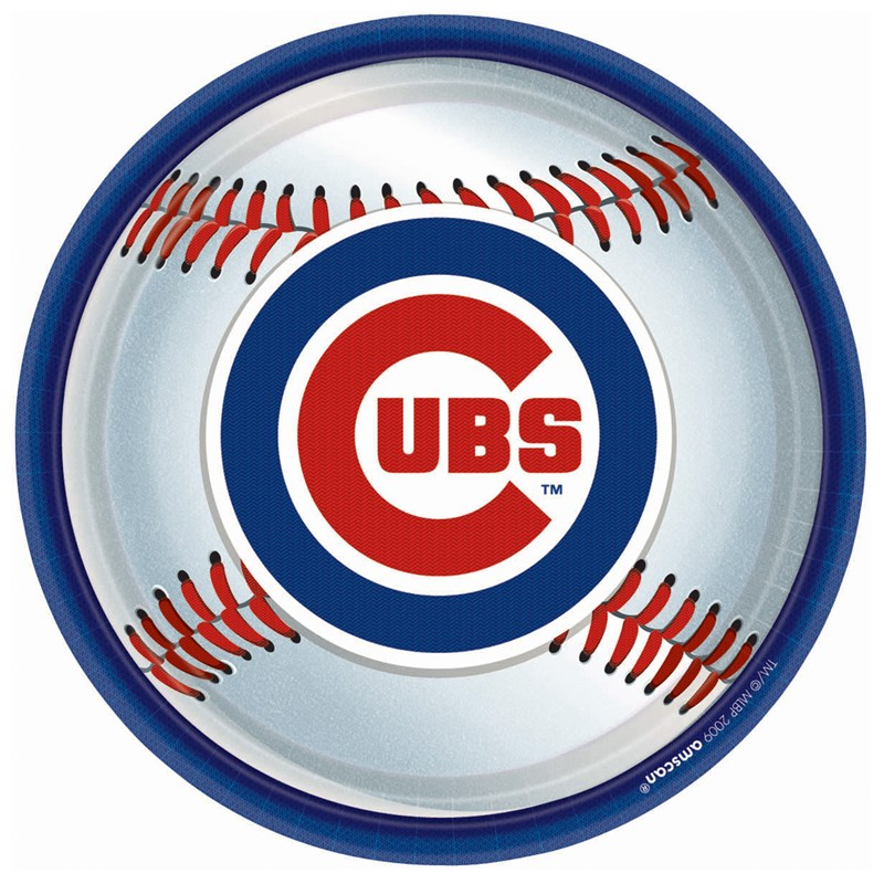 Chicago Cubs Baseball   Round Dinner Plates (18 count) for the 2015 Costume season.