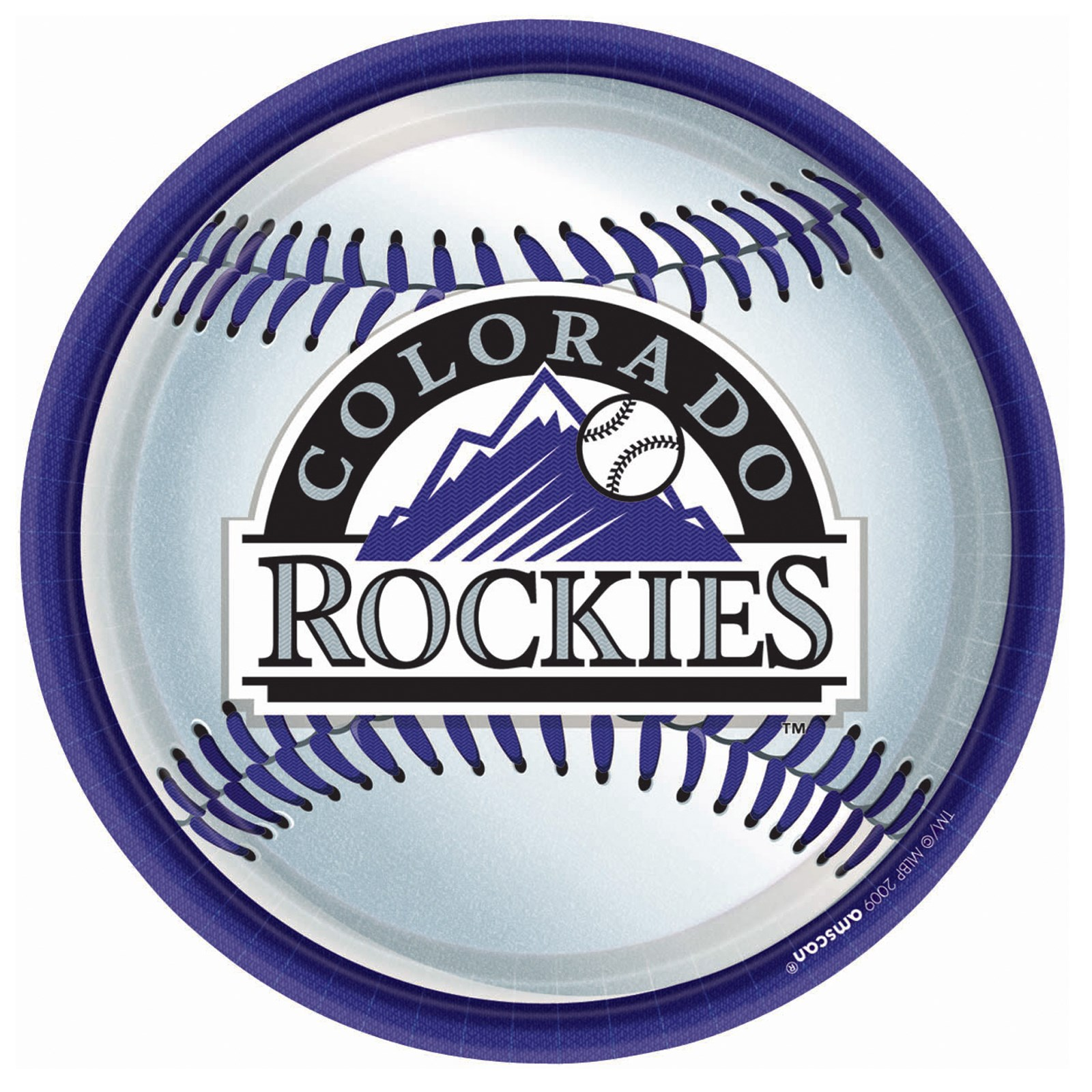 Colorado Rockies Baseball - Round Dinner Plates (18 count ...