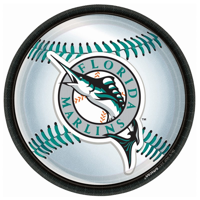 Florida Marlins Baseball   Round Dinner Plates (18 count) for the 2015 Costume season.