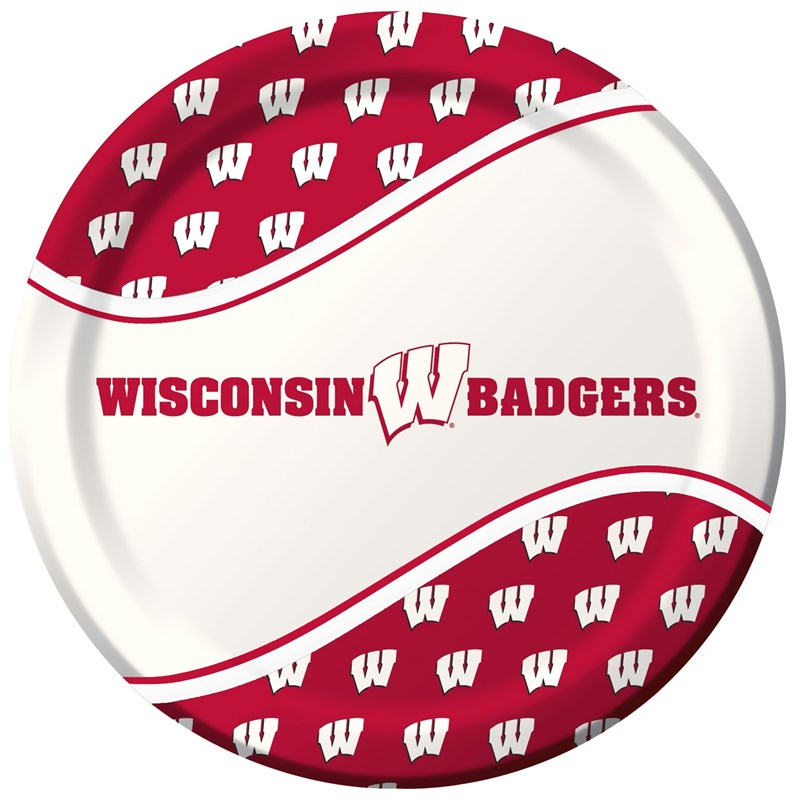 Wisconsin Badgers   Dinner Plates (8 count) for the 2015 Costume season.