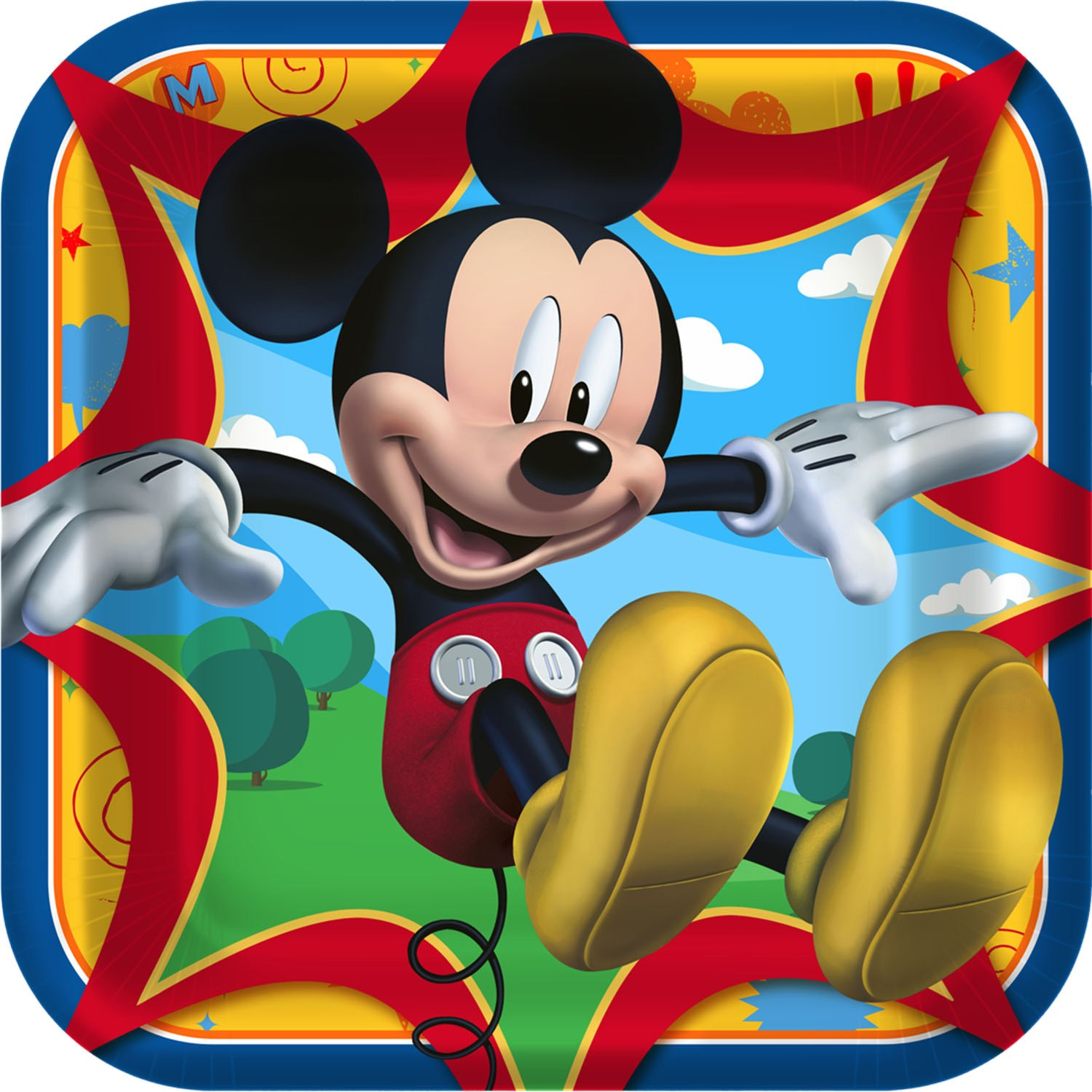 Disney Mickey Fun and Friends Square Dinner Plates 8 count