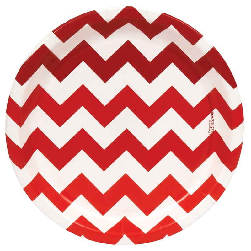 Chevron Red Dinner Plates (8 count) for the 2015 Costume season.