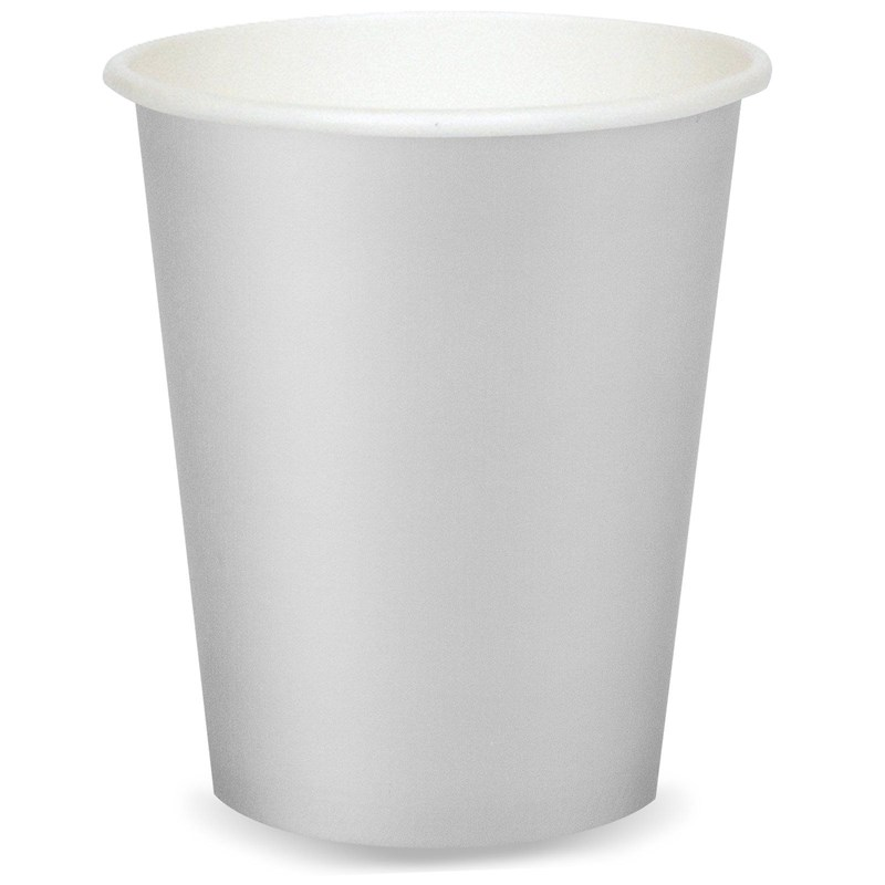 Shimmering Silver (Silver) 9 oz. Paper Cups (24 count) for the 2015 Costume season.
