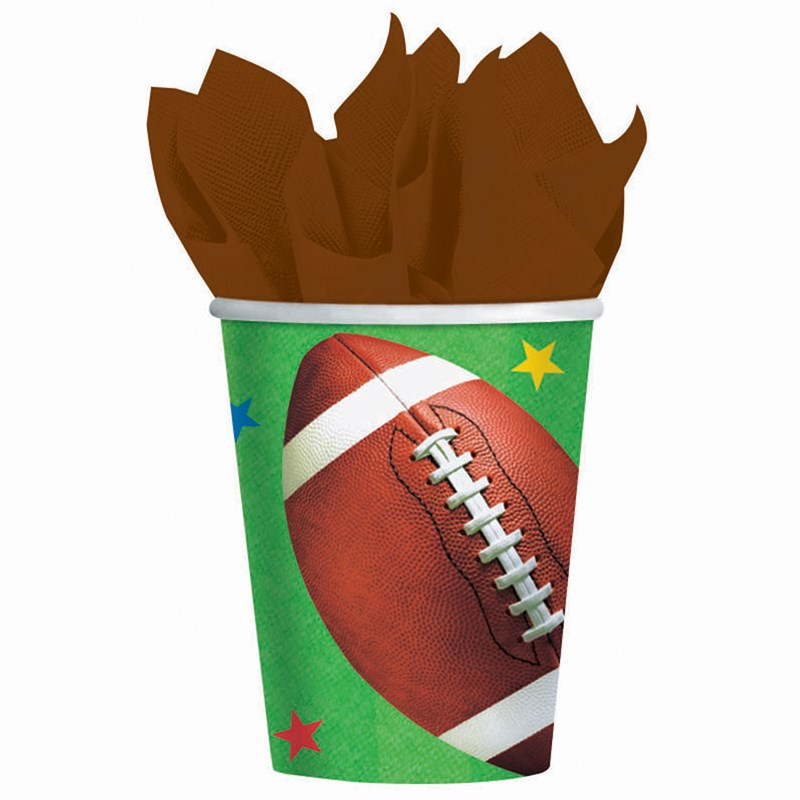 Football Fan   9 oz. Cups (8 count) for the 2015 Costume season.