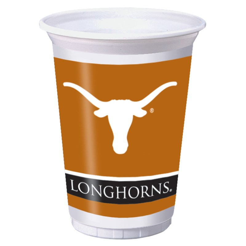Texas Longhorns   20 oz. Plastic Cups (8 count) for the 2015 Costume season.