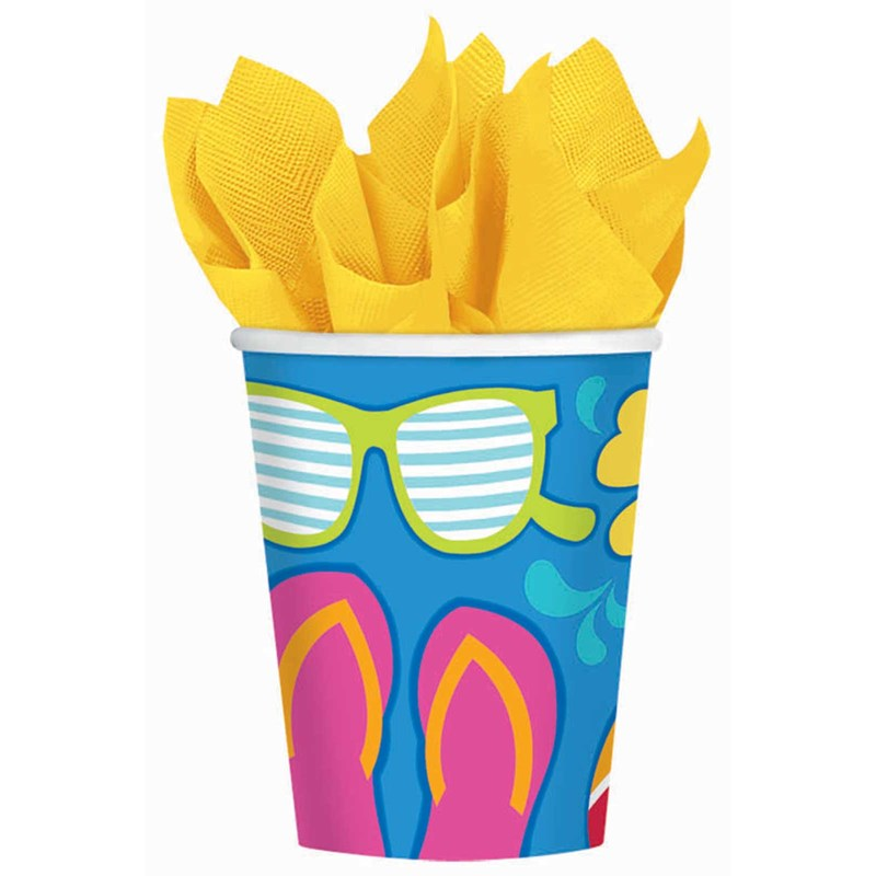Summer Splash Luau 9 oz. Paper Cups for the 2015 Costume season.