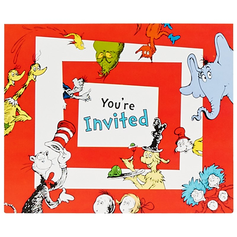Dr. Seuss 1st Birthday Invitations (8 count) for the 2015 Costume season.