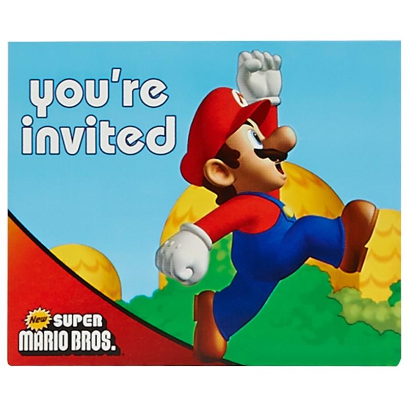Super Mario Bros. Invitations for the 2015 Costume season.