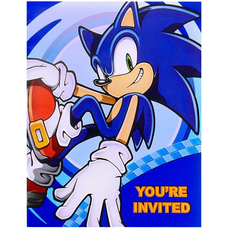 Sonic the Hedgehog Invitations (8 count) for the 2015 Costume season.