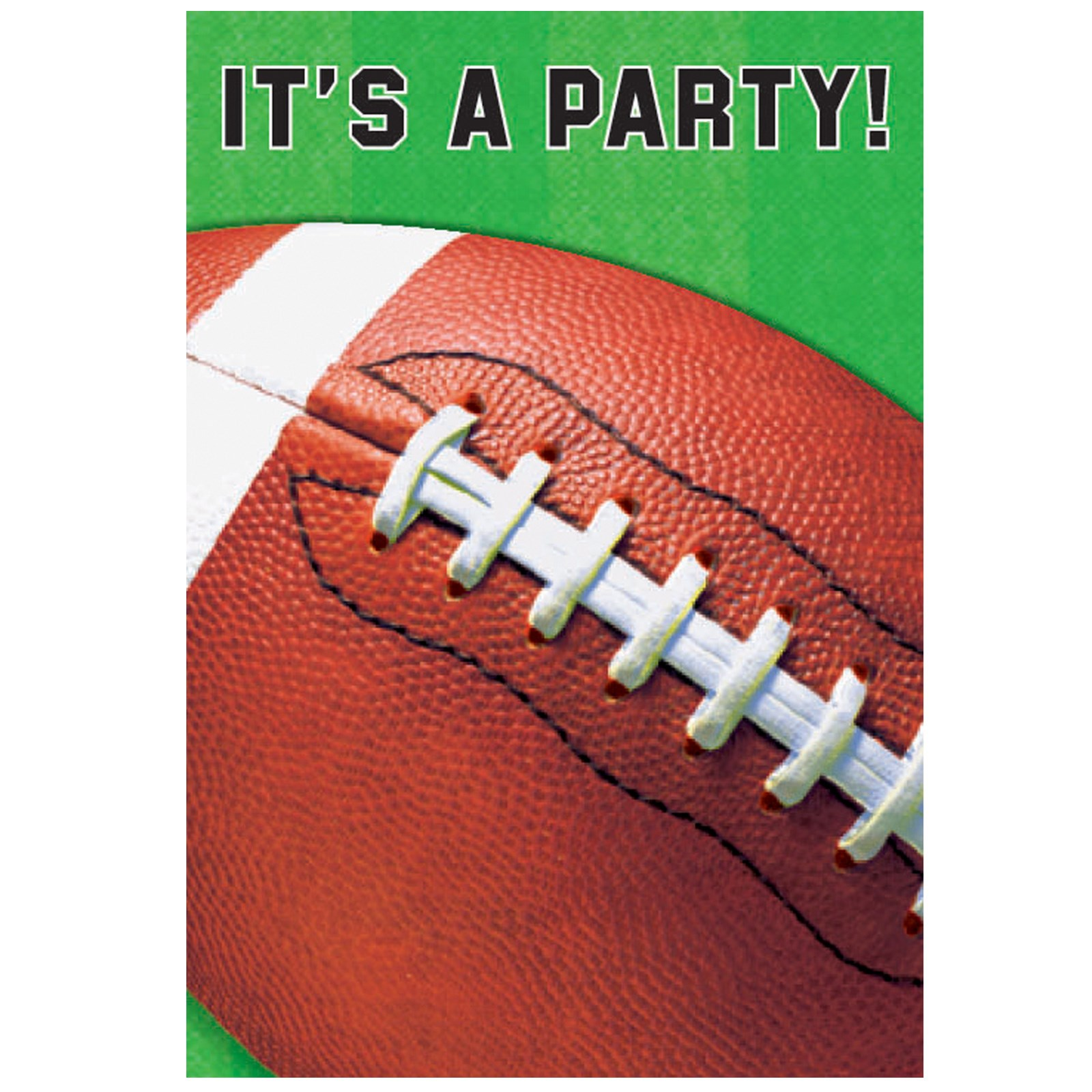 Football Invitations 8 count