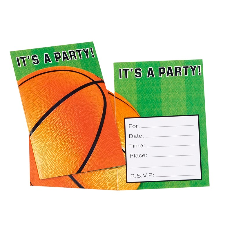 Basketball Invitations (8 count) for the 2015 Costume season.
