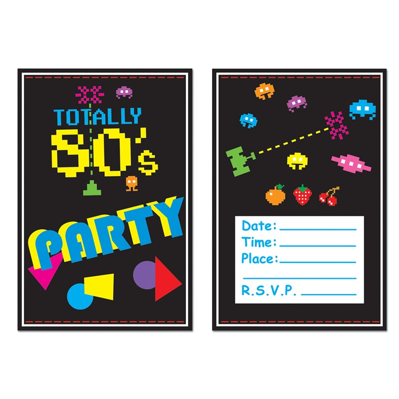 Totally 80s   Invitations (8 count) for the 2015 Costume season.