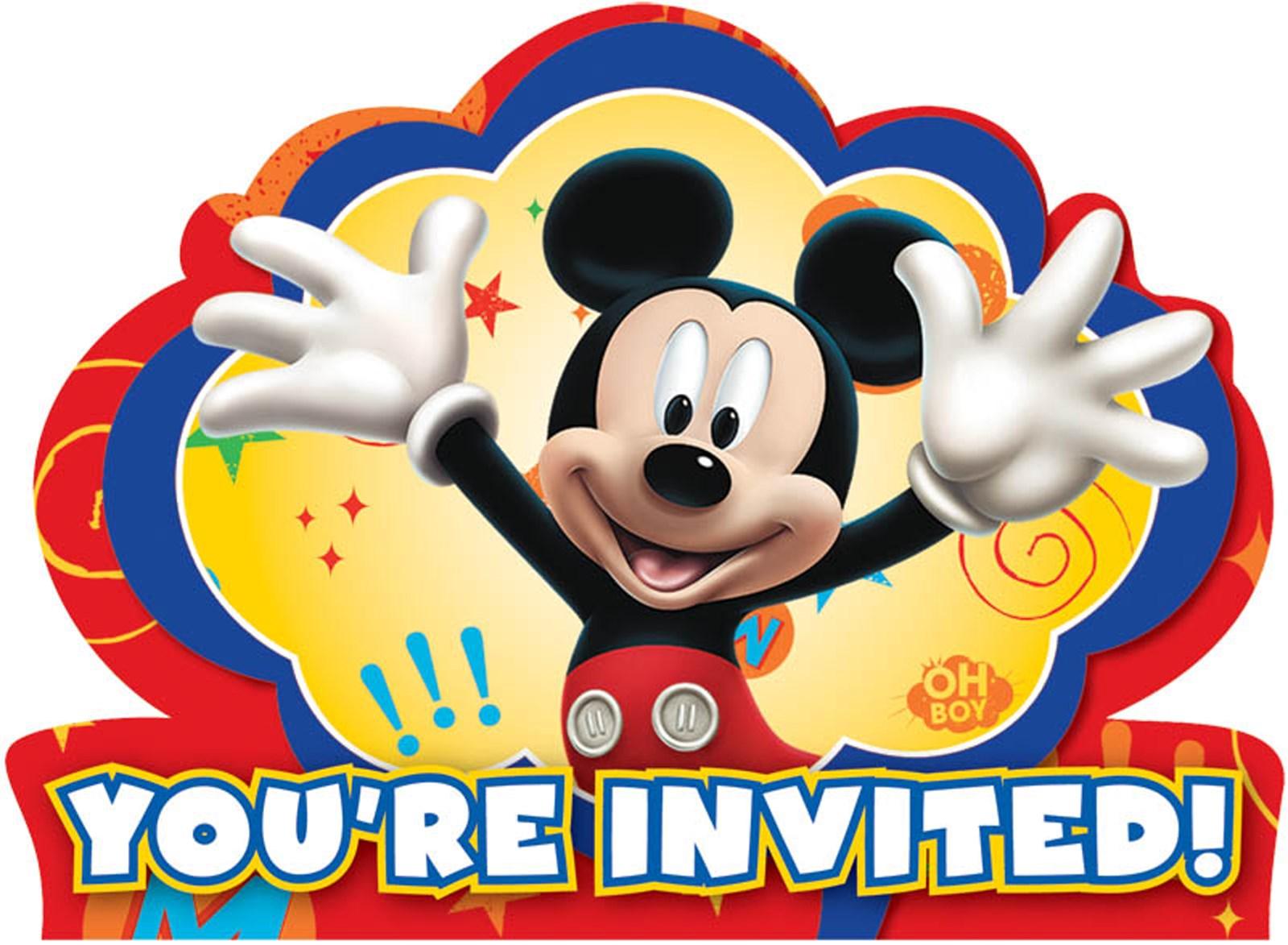 Disney Mickey Fun and Friends Invitations 8 count