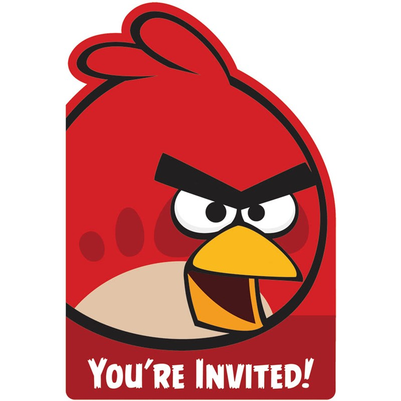 Angry Birds Invitations (8 count) for the 2015 Costume season.