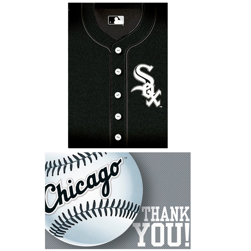Chicago White Sox Baseball   Invitation and Thank You Combo (8 each) for the 2015 Costume season.