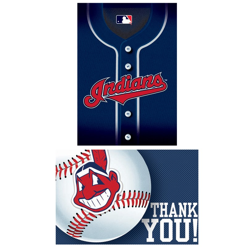 Cleveland Indians Baseball   Invitation and Thank You Combo (8 each) for the 2015 Costume season.