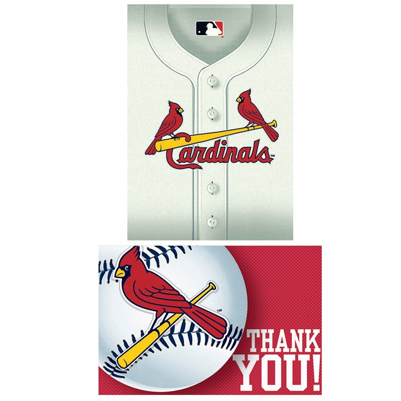St. Louis Cardinals Baseball   Invitation and Thank You Combo (8 each) for the 2015 Costume season.