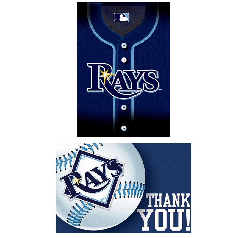 Tampa Bay Rays Baseball   Invitation and Thank You Combo (8 each) for the 2015 Costume season.
