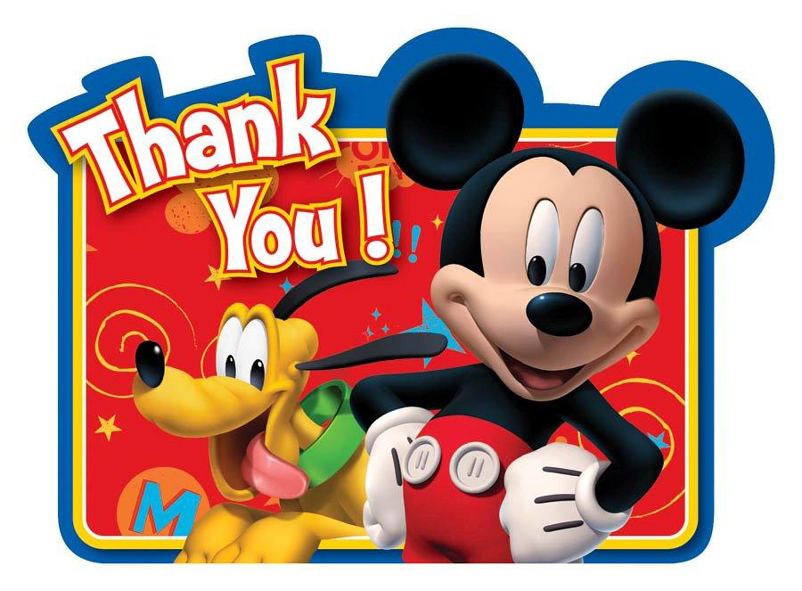 Disney Mickey Fun and Friends Thank You Cards 8 count