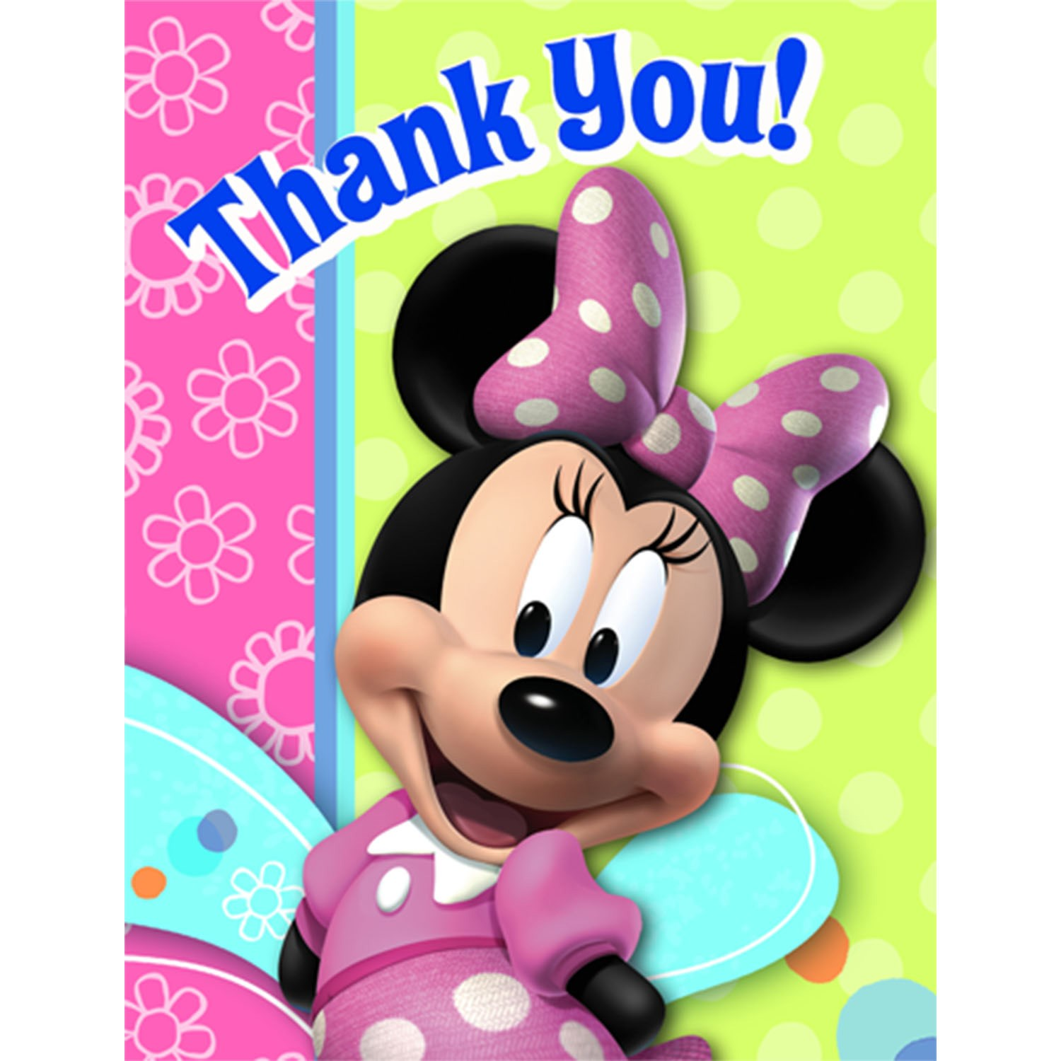 Disney Minnie Mouse Bow-tique Thank You Cards 8 count