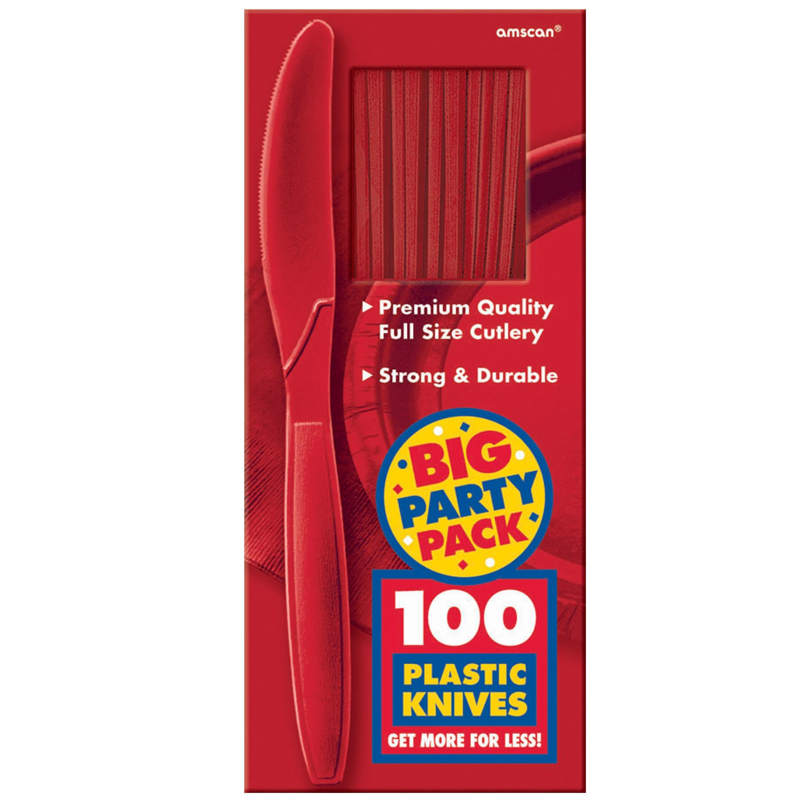 Image of Apple Red Big Party Pack - Knives (100 count)